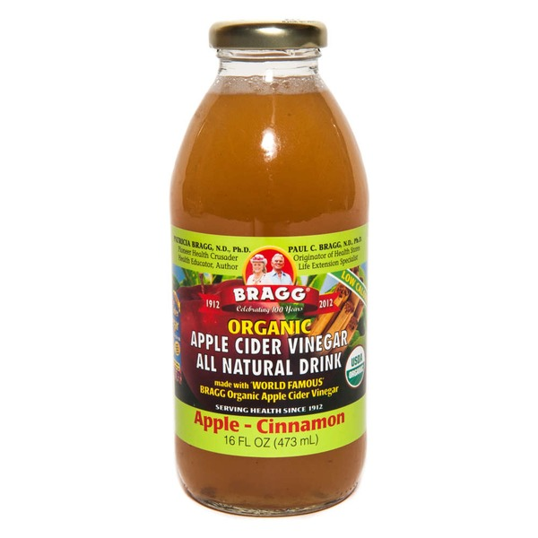 Bragg Organic Apple Cider Vinegar Apple-Cinnamon All Natural Drink