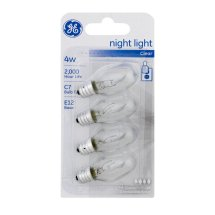 GE Night Light Bulbs Clear 4W - 4 CT
