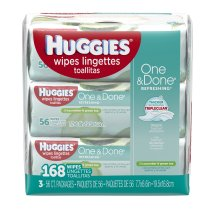 Huggies One & Done Baby Wipes, Cucumber & Green Tea (168 count)