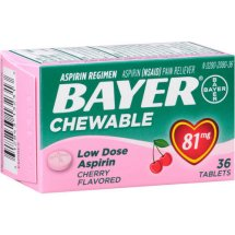 Bayer Aspirin Regimen Pain Reliever Low Dose Chewable Tablets Cherry - 81mg, 36.0 CT