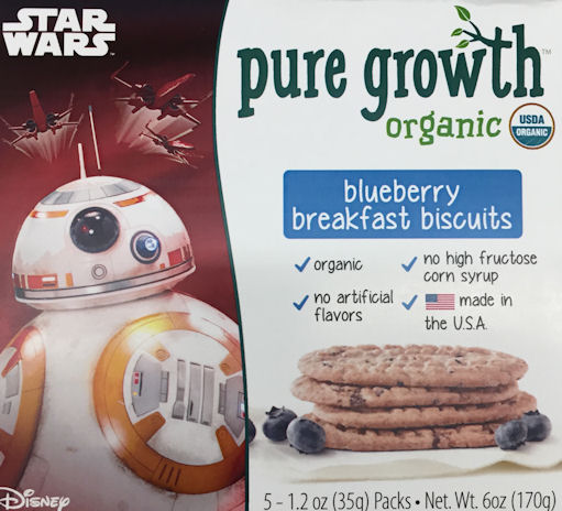 Pure Growth Star Wars Organic Blueberry Breakfast Biscuits