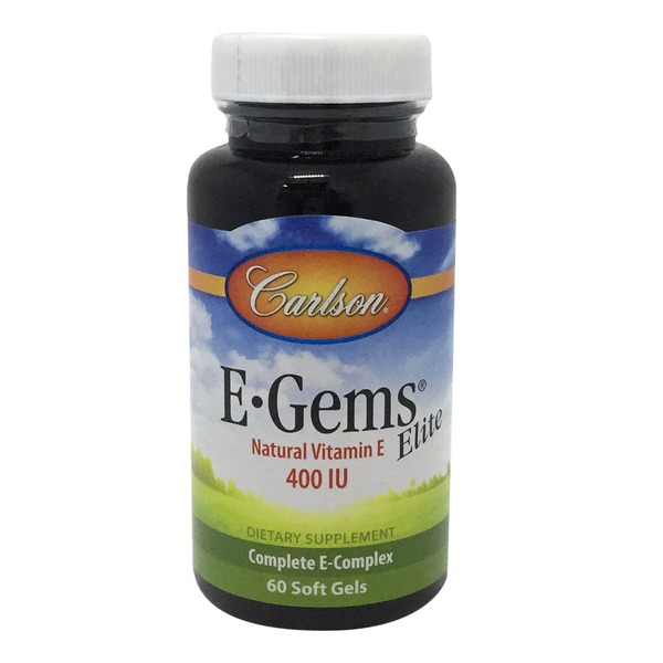 Carlson Labs E-Gems Elite Natural Source Vitamin E 400 IU Soft Gels