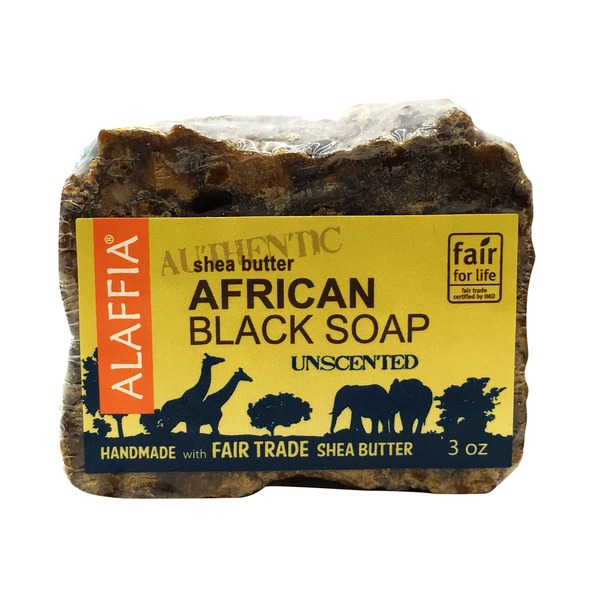 Alaffia Unscented Shea Butter Authentic African Black Soap