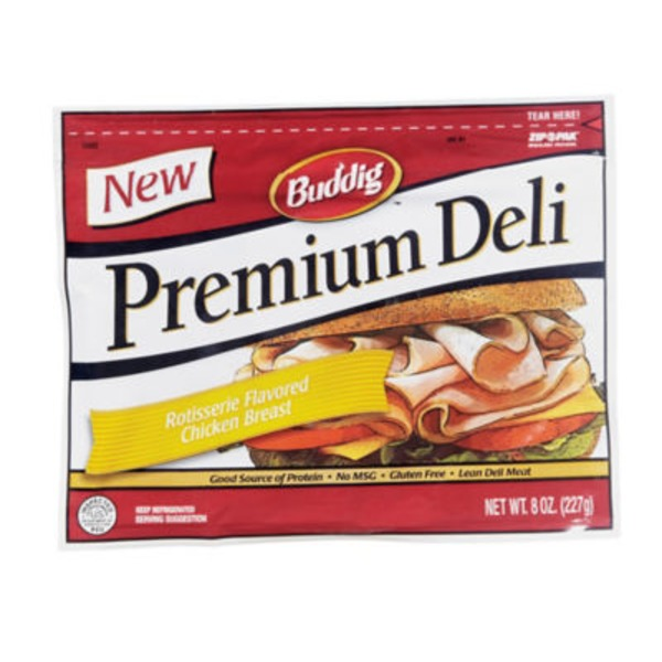 Buddig Premium Deli Rotisserie Flavored Chicken Breast