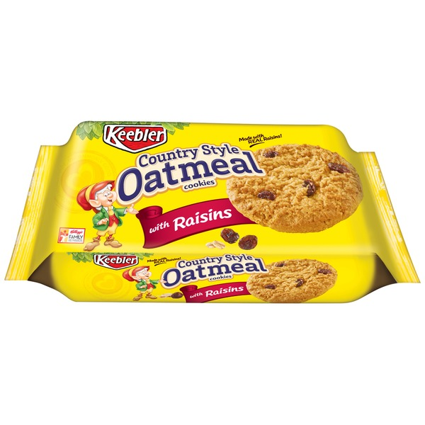 Keebler Country Style Oatmeal with Raisins Cookies