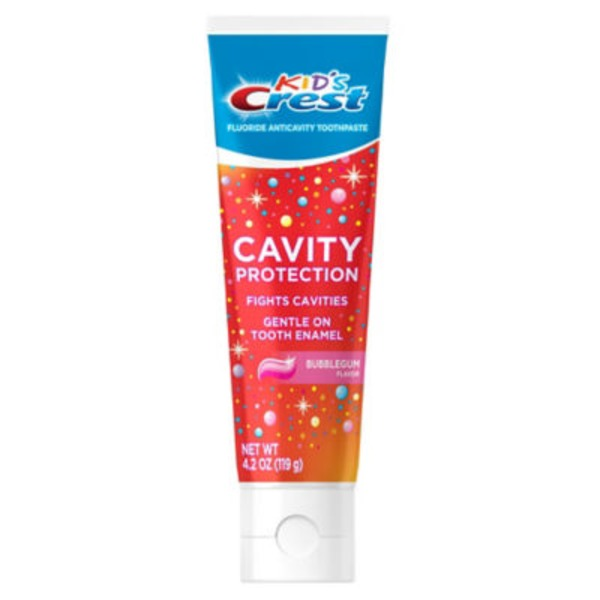 Crest Kids Kid's Crest Cavity Protection - Bubblegum Flavor Toothpaste Gel Formula, 4.2 oz Dentifrice