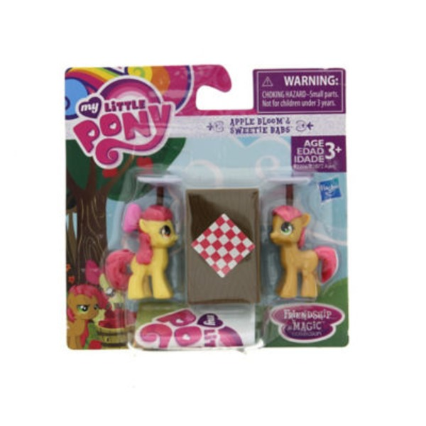 Hasbro My Little Pony Friendship Is Magic Collection Apple Bloom And Sweetie Babs Figure Pack Assorted Varieties