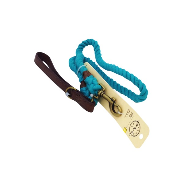 Bond & Co 4' Rope Lead Turquoise