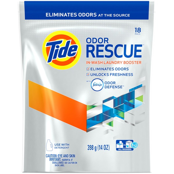 Tide Odor Rescue with Febreze Odor Defense In-Wash Laundry Booster Pacs, 18 loads Laundry Additives