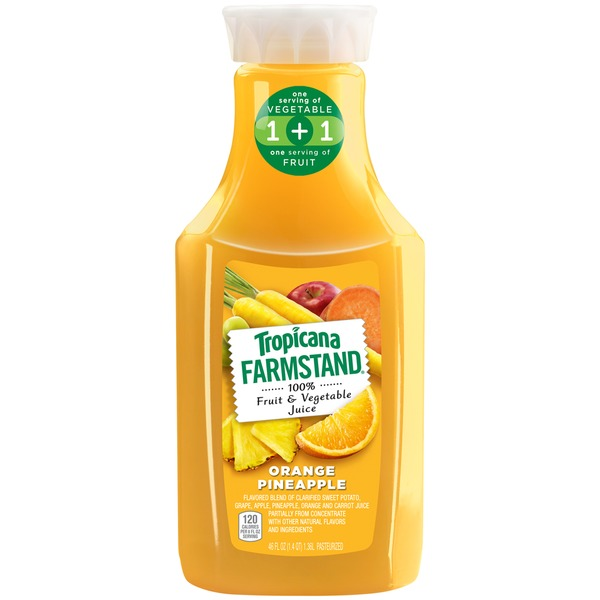Tropicana Farmstand Orange Pineapple Fruit & Vegetable 100% Juice