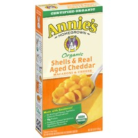 Annie's Homegrown Organic Shells & Real Aged Cheddar Mac & Cheese Macaroni & Cheese Organic