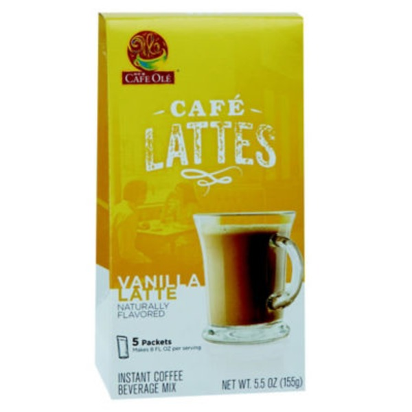 H-E-B Cafe Ole Lattes, Vanilla Latte Beverage Mix