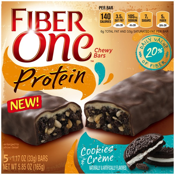 Fiber One Protein Cookies & Creme Chewy Bars