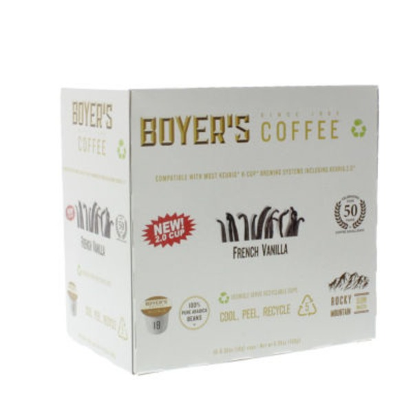 Boyer's Coffee French Vanilla Single Serve