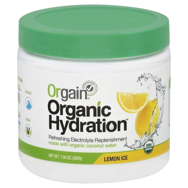 Orgain Organic Hydration, Lemon Ice
