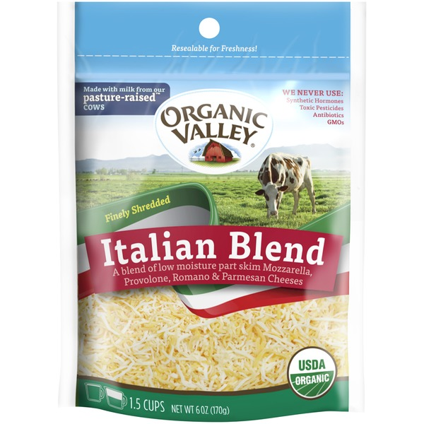 Organic Valley Italian Blend Fancy Shredded Cheese