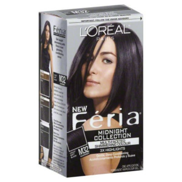 Feria Multi-Faceted Shimmering Colour M32 Violet Soft Black Hair Color