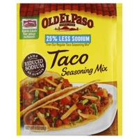 Old El Paso Taco 25% Less Sodium Seasoning Mix