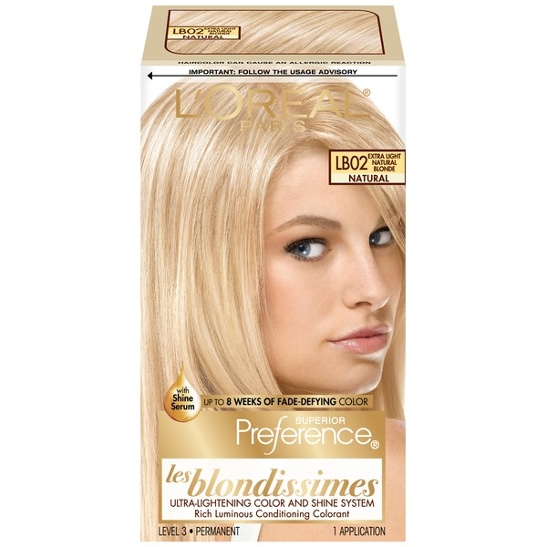 Superior Preference Lb02 Les Blondissimes Extra Light Natural Blonde Hair Color