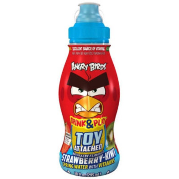 Surprise Drinks Drink & Play Angry Birds Strawberry Kiwi Spring Water, Design Variety