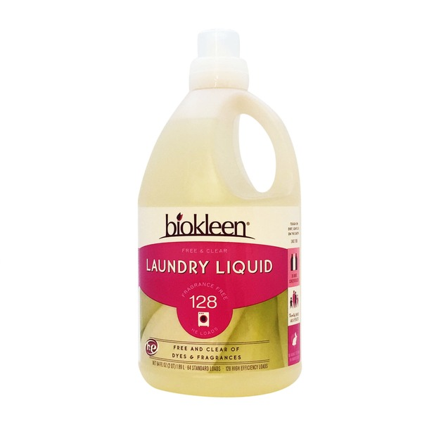 Biokleen Free & Clear Laundry Liquid Detergent 128 Loads