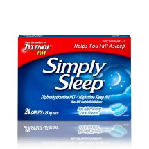 Simply Sleep Nighttime Sleep Aid Caplets, 24 Count