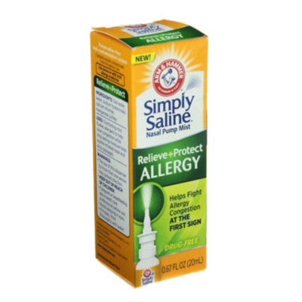 Arm & Hammer Simply Saline Allergy Nasal Pump Mist