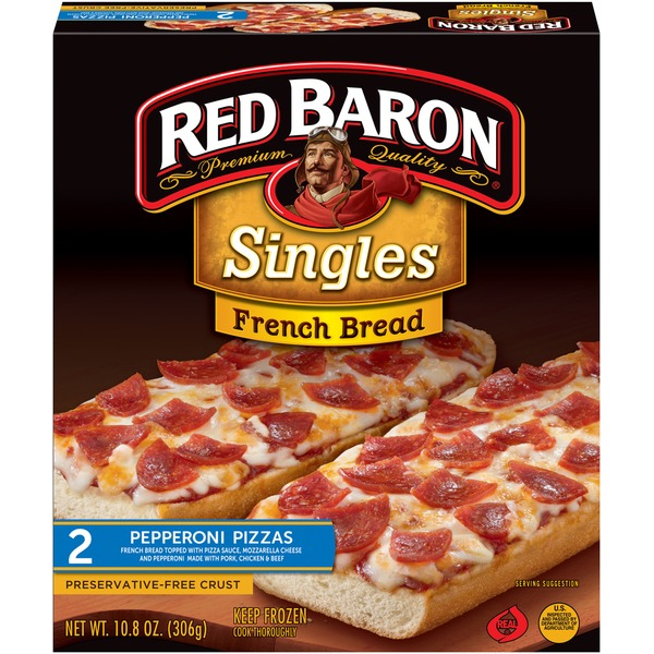 Red Baron Singles French Bread Pepperoni Pizza