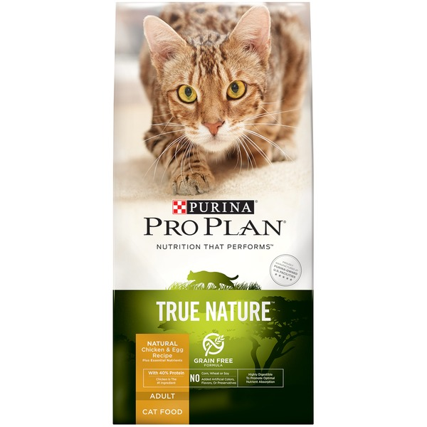 Pro Plan Cat Dry True Nature Adult Grain Free Formula Natural Chicken and Egg Recipe Cat Food