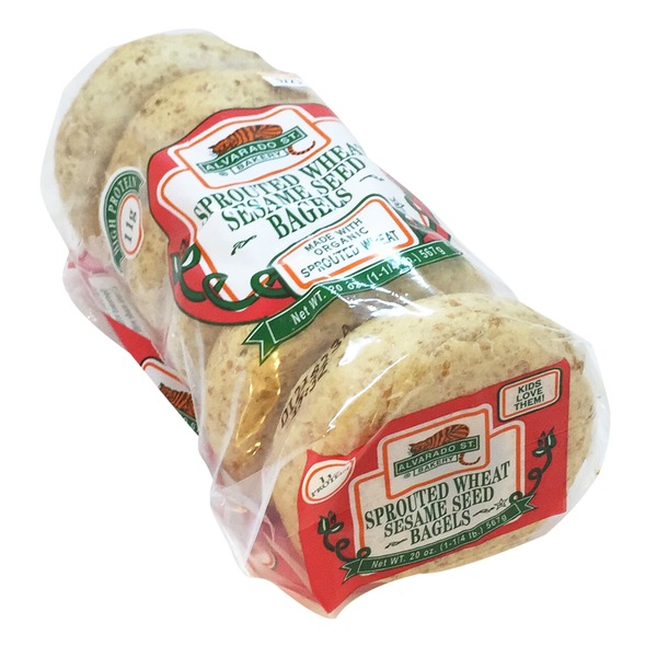 Alvarado St. Bakery Sprouted Sesame Seed Bagels - 6 CT