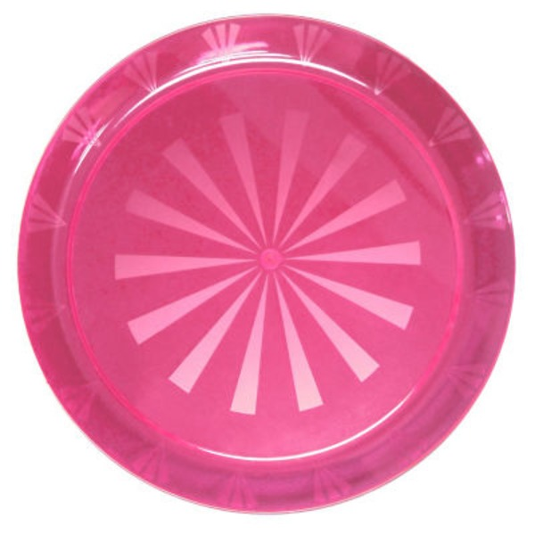 Northwest Party Essentials Round Neon Pink Tray