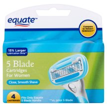 Equate Women's 5-Blade Razor Replacement Cartridges, 4 Ct