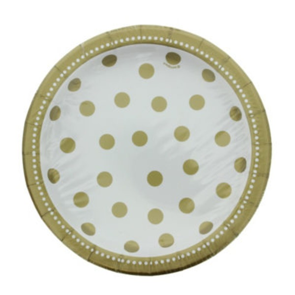 Unique 7 In. Golden Birthday Plates