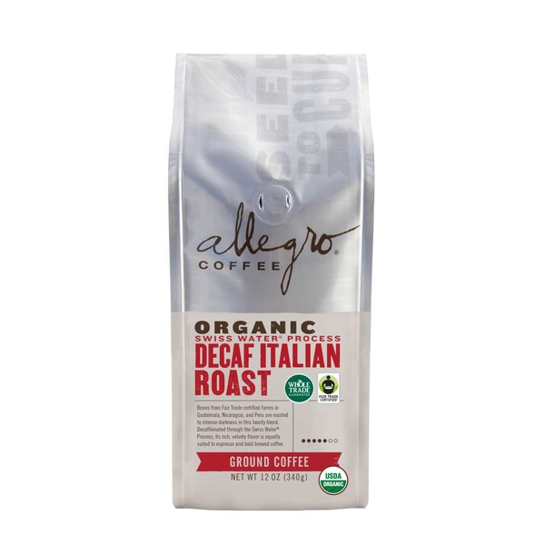 Allegro Organic Decaf Italian Roast Ground Coffee