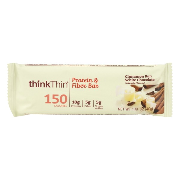 thinkThin Lean Protein & Fiber Bar Cinnamon Bun White Chocolate