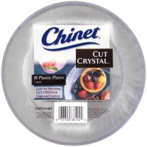 Chinet Cut Crystal Plastic Plates, 7', 18 Count