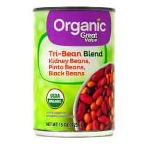 Great Value Organic Tri-Bean Blend, 15 oz