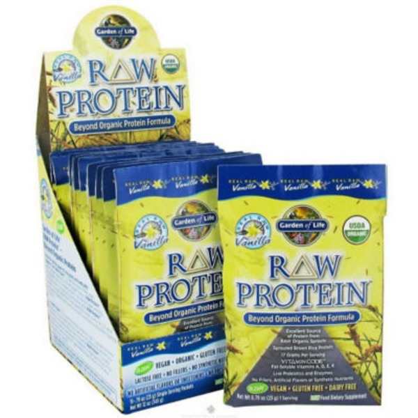 Garden of Life Raw Protein Vanilla Plavor Packets