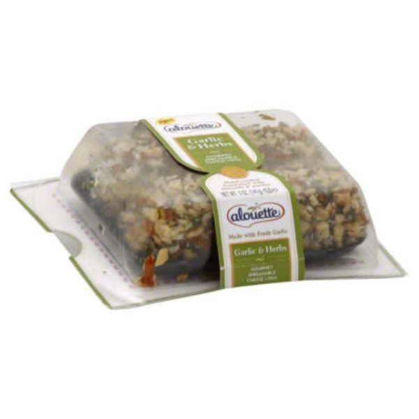 Alouette Gourmet Spreadable Cheese Logs Garlic & Herbs - 2 CT