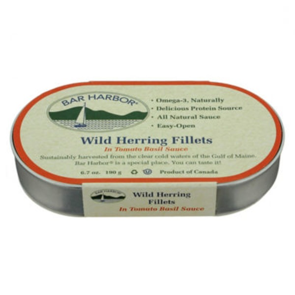 Bar Harbor Wild Herring Fillets in Tomato Basil Sauce