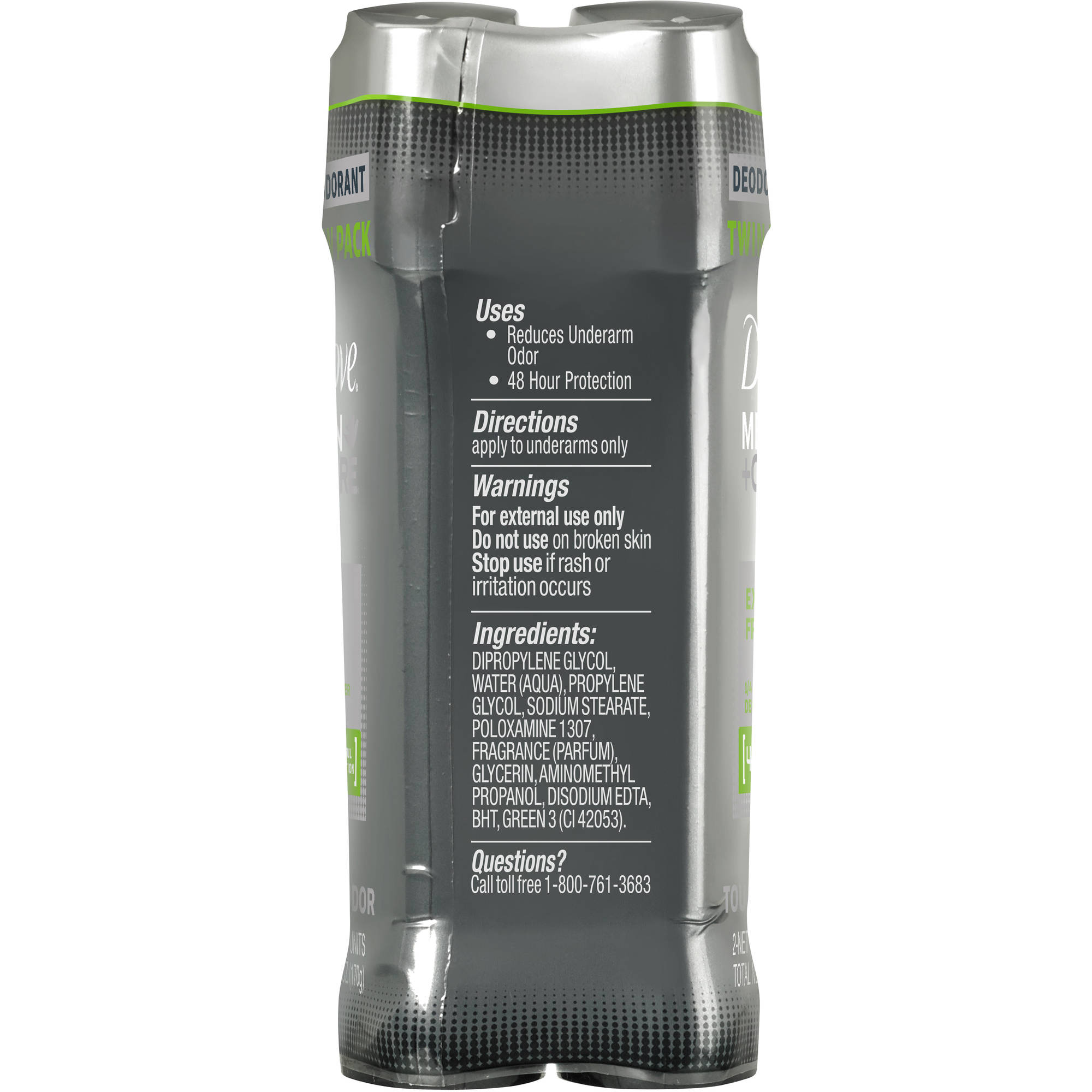 Dove Men+Care Extra Fresh Deodorant Twin Pack