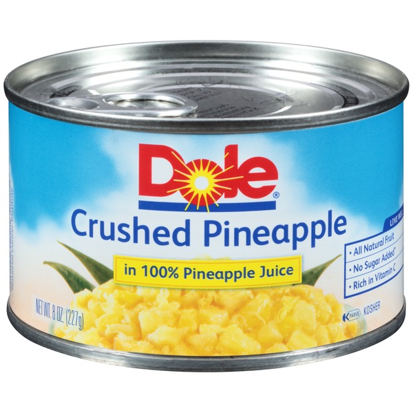 Dole Crushed In 100% Pineapple Juice Pineapple