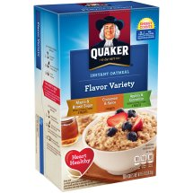 Quaker Maple & Brown Sugar/Cinnamon & Spice/Apples & Cinnamon Instant Oatmeal 10 ct Packets