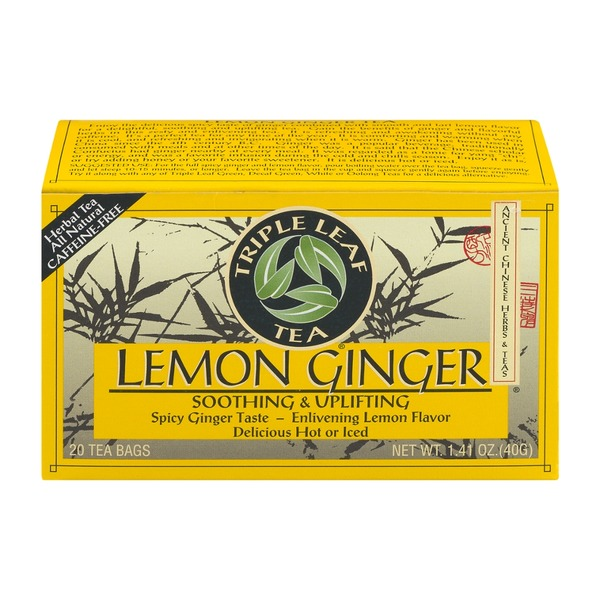 Triple Leaf Tea Lemon Ginger Tea Bags