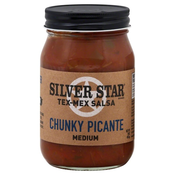 Silver Star Tex-Mex Salsa, Chunky Picante, Medium, Jar