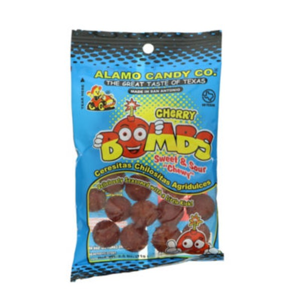 Alamo Candy The Great Taste Of Texas Cherry Bombs Sweet & Sour