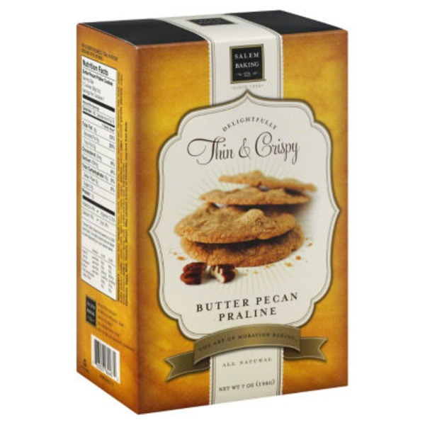 Salem Baking Company Delightfully Thin & Crispy Cookies Butter Pecan Praline