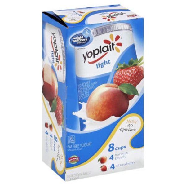 Yoplait Light Harvest Peach/Strawberry Variety Pack Fat Free Yogurt