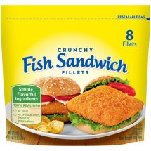 Gorton's Crunchy Fish Sandwich Fillets, 8 count, 18.3 oz