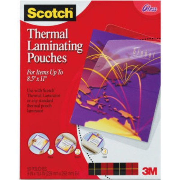 Scotch Thermal Laminating Pouches 8 1/2